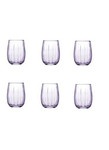 Paşabahçe 420212 Kahve Yanı Bardak - Küçük Su Bardağı 6 Lı Linka Mor Mor